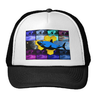 Psychedelic Honey Shark Hat