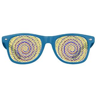 Psychedelic Hypnotic Spirals Retro Sunglasses