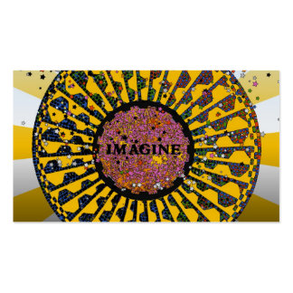 Psychedelic Imagine Mosaic, Strawberry Fields B3 Business Card