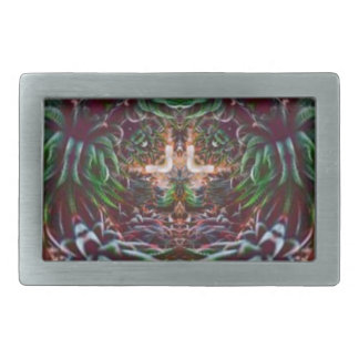 Psychedelic Into the Plant Belt Buckles