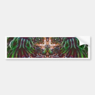 Psychedelic Into the Plant Bumper Sticker