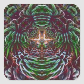 Psychedelic Into the Plant Square Sticker