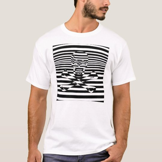 Psychedelic Jolly Roger Pirate Flag T-Shirt