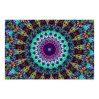 Psychedelic Kaleidoscope art Poster