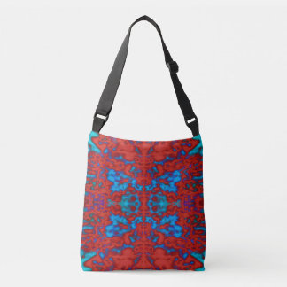Psychedelic kaleidoscope pattern crossbody bag