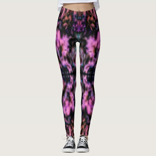 Psychedelic kaleidoscope pattern leggings