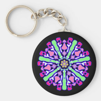 Psychedelic key-ring coloured n°4 keychain