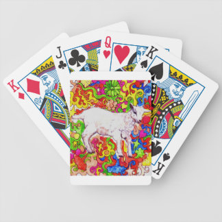 Psychedelic kid bicycle playing cards