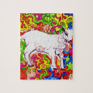 Psychedelic kid jigsaw puzzle