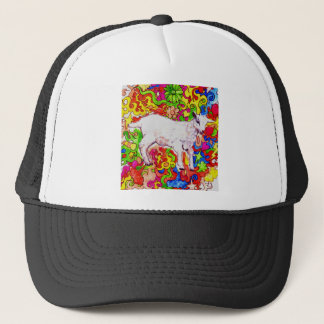 Psychedelic kid trucker hat