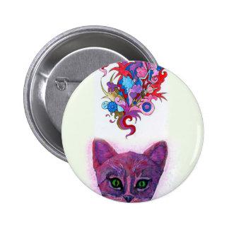 Psychedelic Kitten 2 Inch Round Button