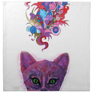 Psychedelic Kitten Napkin