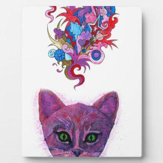 Psychedelic Kitten Plaque