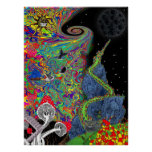 Psychedelic Landscape Print