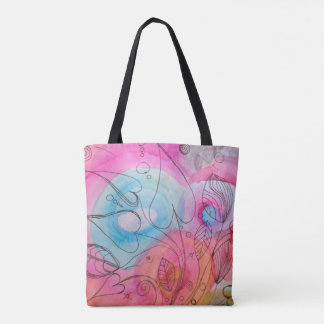 Psychedelic Leaves Tote Bag
