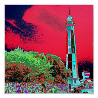 Psychedelic Lighthouse Poster
