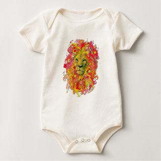 Psychedelic Lion Baby Bodysuit
