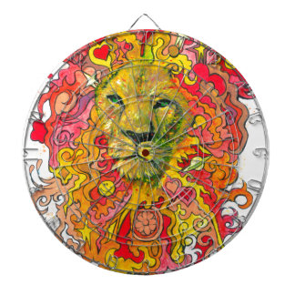 Psychedelic Lion Dartboard