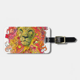 Psychedelic Lion Luggage Tag