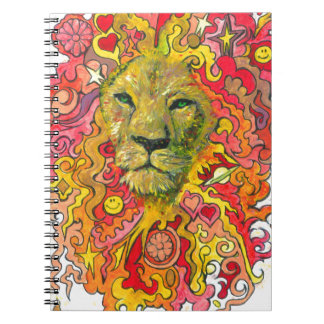 Psychedelic Lion Notebook