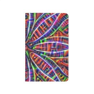 Psychedelic Lotus Pocket Sketchbook Journal