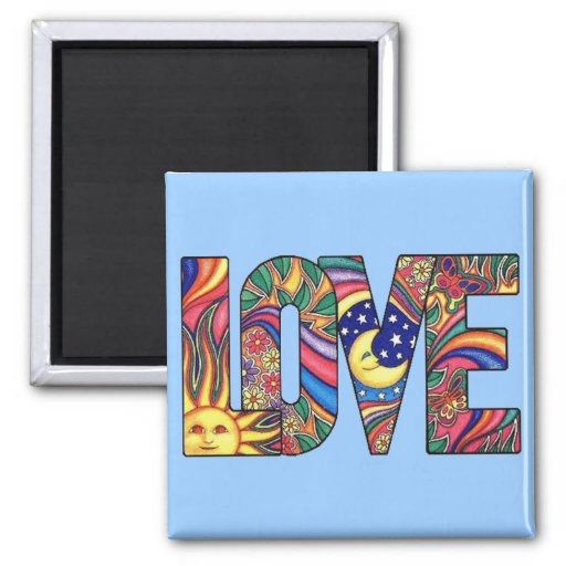 Psychedelic Love Magnets