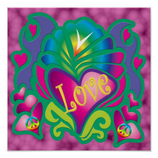 Psychedelic Love Posters