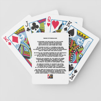 Psychedelic love - Word games - François City Bicycle Playing Cards