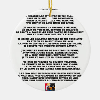 Psychedelic love - Word games - François City Ceramic Ornament