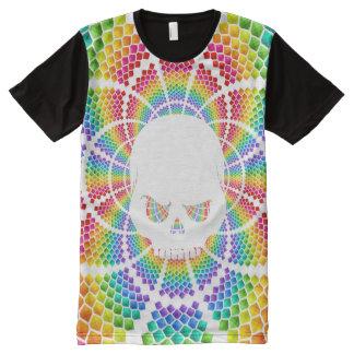 Psychedelic Mad White Skull