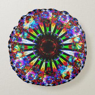 Psychedelic Mandala Art Round Pillow