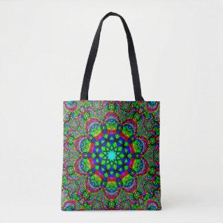 Psychedelic Mandala Art Tote Bag