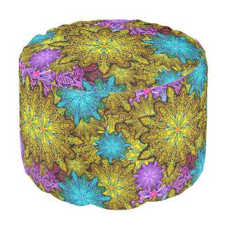 psychedelic mandala madness pouf dorm decor