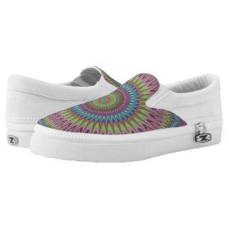 Psychedelic mandala Slip-On sneakers