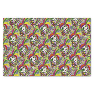 Psychedelic Mardi Gras Feather Mask Tissue Paper