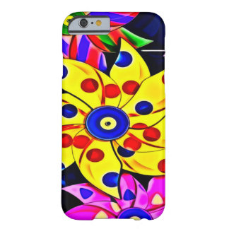 Psychedelic Mechanical Rainbow Flowers Barely There iPhone 6 Case