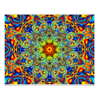 Psychedelic Melting Pot Mandala   - Abstract Art Poster