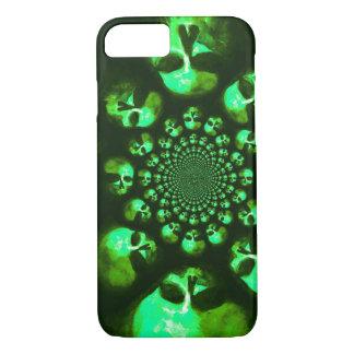 Psychedelic Memento Mori Phone Case in Green