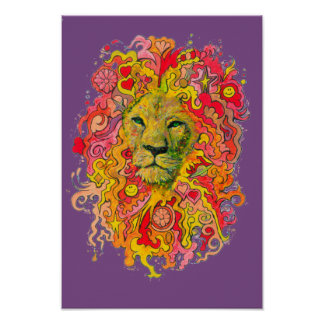 Psychedelic Minnesota Lion Poster