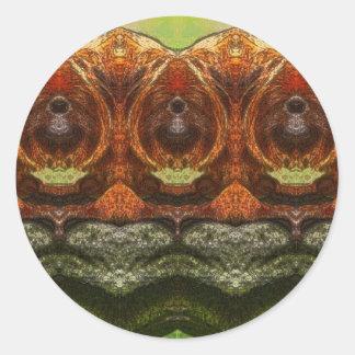 Psychedelic Monkey Round Sticker