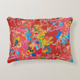 psychedelic Monster Accent Pillow