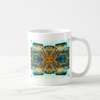 Psychedelic Mountain Range Painting Pattern Coffee Mug