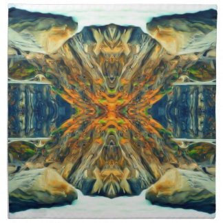 Psychedelic Mountain Range Painting Pattern Napkin