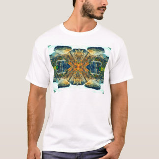 Psychedelic Mountain Range Painting Pattern T-Shirt