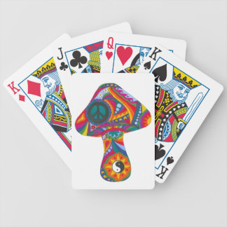 Psychedelic Mushroom Bicycle Playing Cards