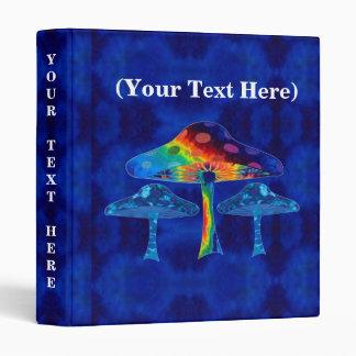 """Psychedelic Mushrooms 1"""" Vinyl Binders"""