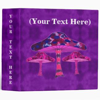"Psychedelic Mushrooms 2"" Vinyl Binder"
