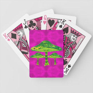 Psychedelic Mushrooms Bicycle Playing Cards