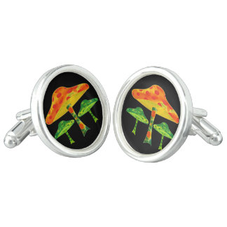 Psychedelic Mushrooms Cuff Links