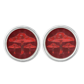 Psychedelic Mushrooms Cufflinks